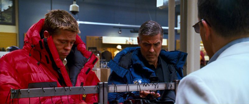 Mountain Hardwear Jacket And Verizon Phone Used by George Clooney in Ocean's Thirteen (2007) - Movie Product Placement