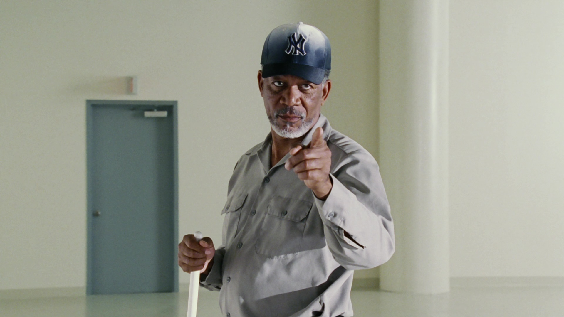 New York Yankees Baseball Team Cap Worn By Morgan Freeman