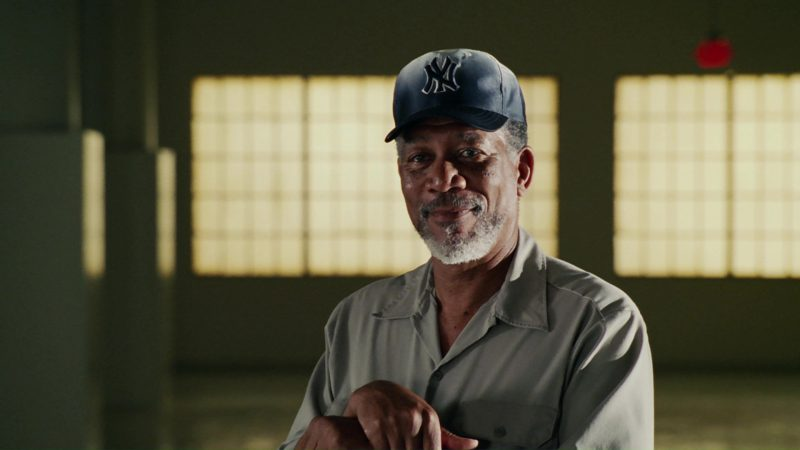 New York Yankees Baseball Team Cap Worn by Morgan Freeman in Bruce Almighty (2003) Movie Product Placement