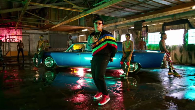 Nike Red Sneakers Worn by Daddy Yankee in Dura (2018) Latin Music Video Product Placement
