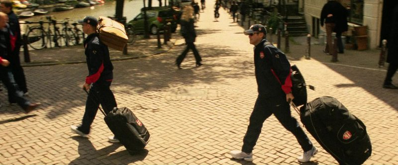 Nike and Arsenal F.C. Tracksuits and Nike Shoes in Ocean's Twelve (2004) - Movie Product Placement