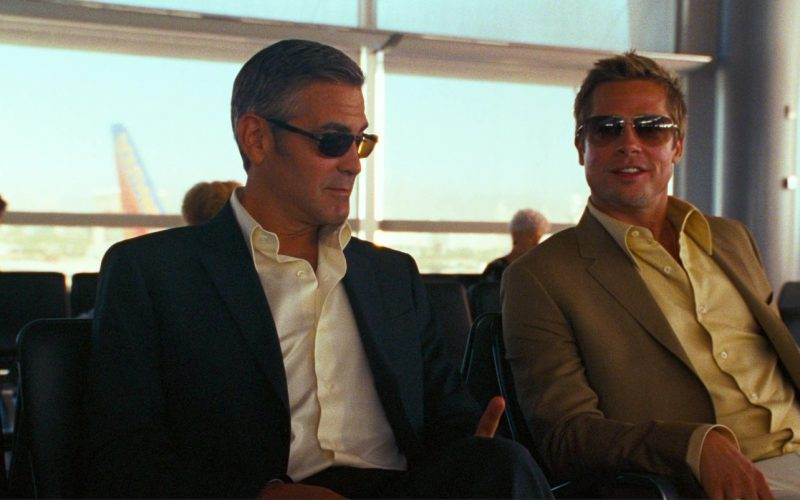 Oliver Peoples Strummer Sunglasses Worn by Brad Pitt and Persol 2157 Sunglasses Worn by George Clooney in O