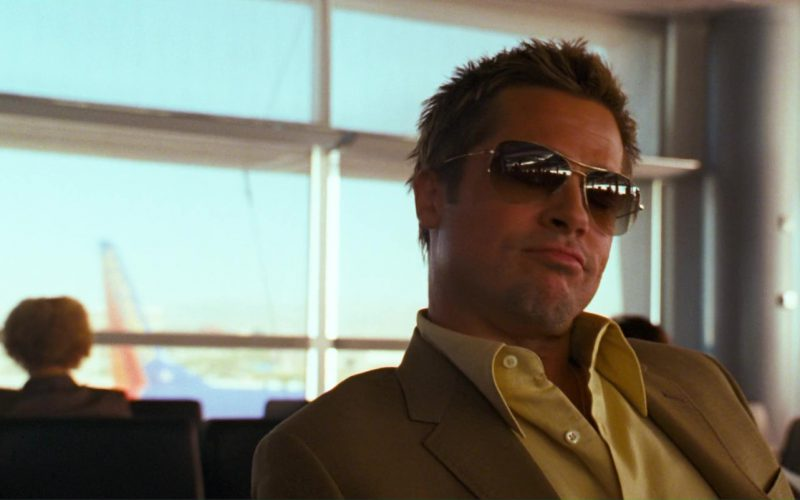 Oliver Peoples Strummer Sunglasses Worn by Brad Pitt in Ocean's Thirteen (2)