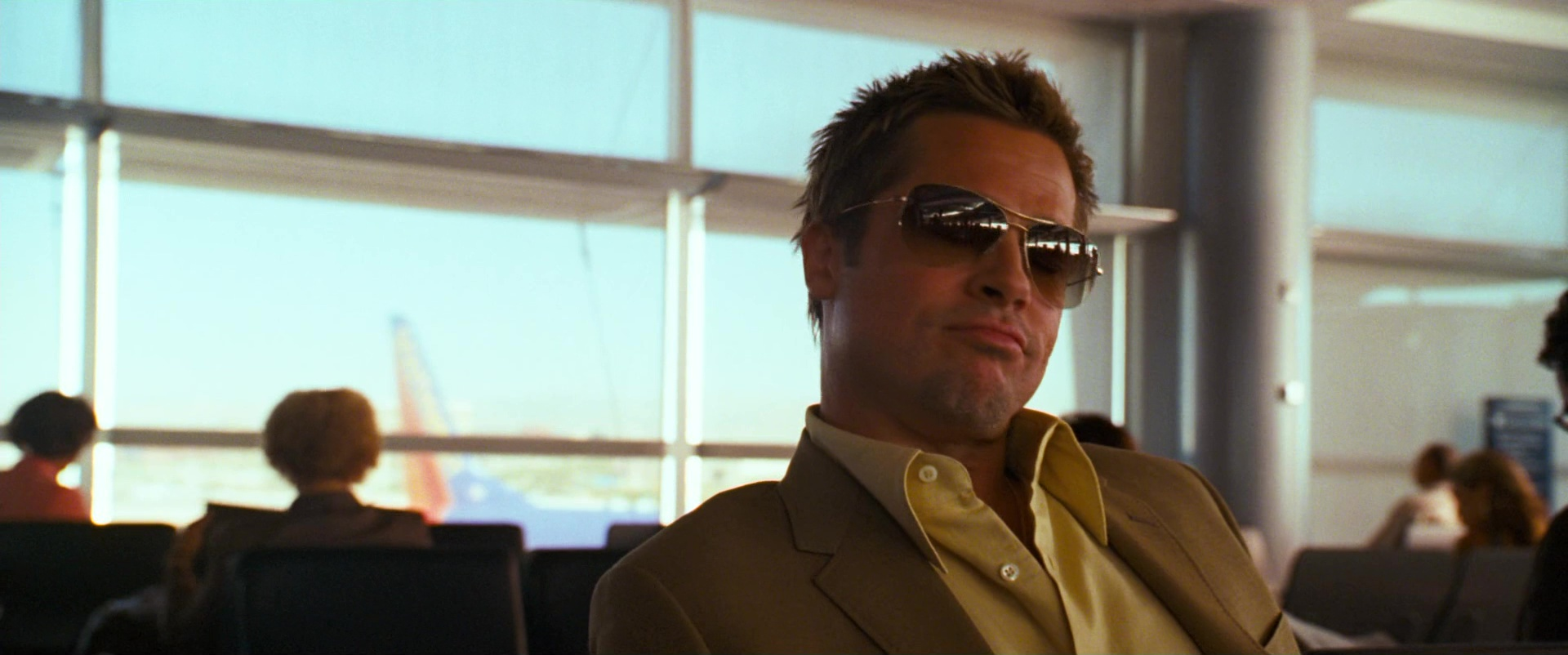 9420dea612 Oliver Peoples Strummer Sunglasses Worn by Brad Pitt in Ocean s Thirteen  (2007) Movie Product