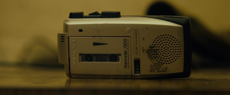 Olympus J300 Microcassette Recorder Used by Evan Peters in The Pirates of Somalia (2017) Movie Product Placement