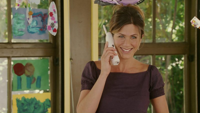 Panasonic Phone Used by Jennifer Aniston in Bruce Almighty (2003) Movie Product Placement