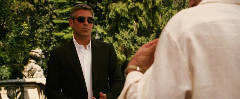 Persol Sunglasses Worn by George Clooney in Ocean's Twelve (2004) Movie Product Placement