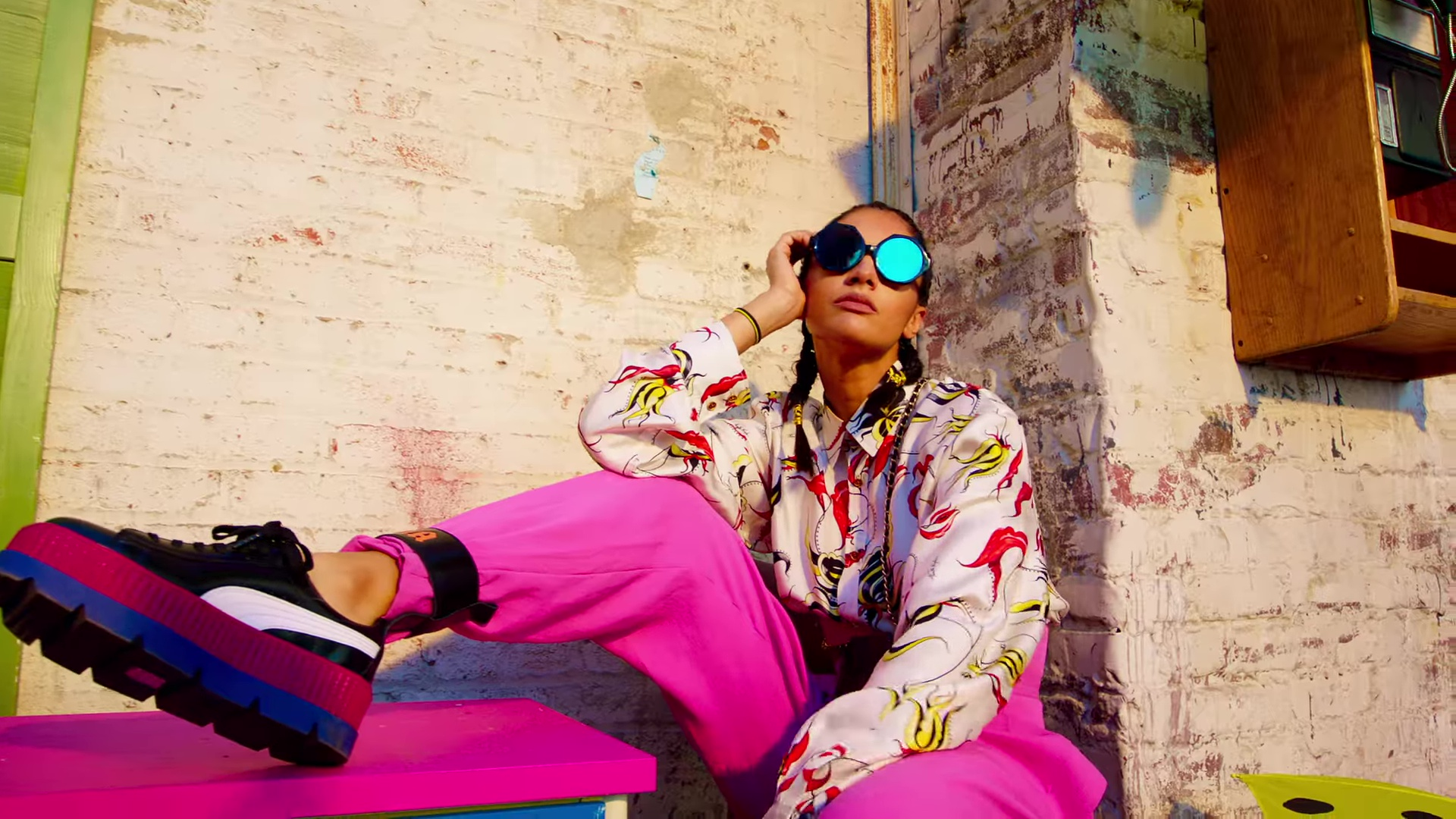 Puma Platform Shoes Worn by Model in Dura by Daddy Yankee (2018 ... 8545673e4a4a