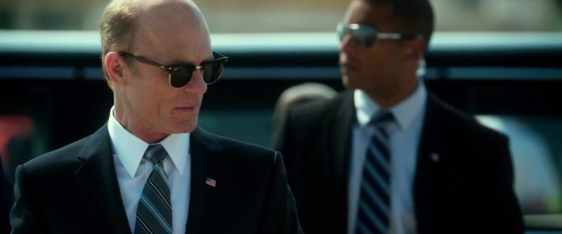 Ray-Ban Sunglasses Worn by Ed Harris in Geostorm (2017) Movie Product Placement