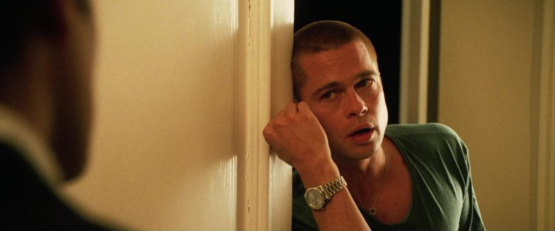 Rolex Day-Date Watch Worn by Brad Pitt in Ocean's Twelve (2004) - Movie Product Placement