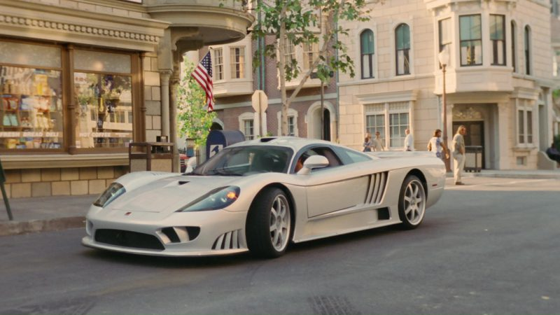 Saleen S7 American Hand-Built, High-Performance Supercar Used by Jim Carrey in Bruce Almighty (2003) Movie Product Placement