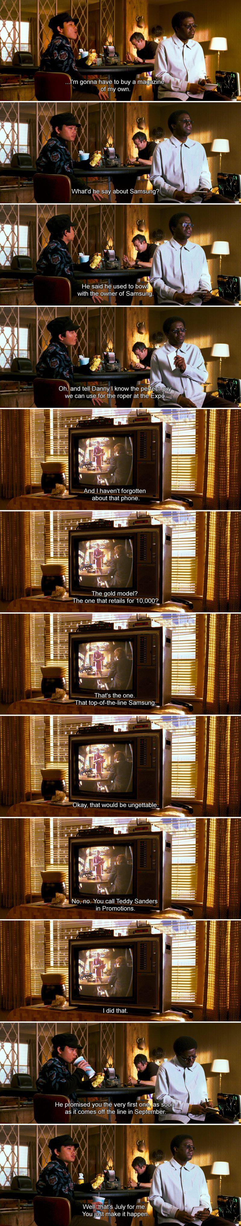 Samsung Phone in Ocean's Thirteen (2007) Movie