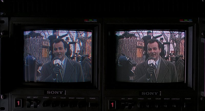 Sony Trinitron Monitors in Groundhog Day (1993) Movie Product Placement