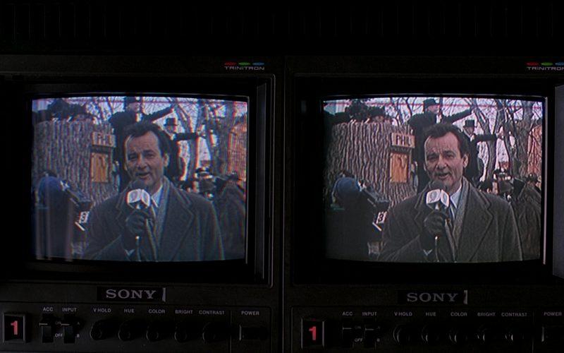 Sony Trinitron Monitors in Groundhog Day