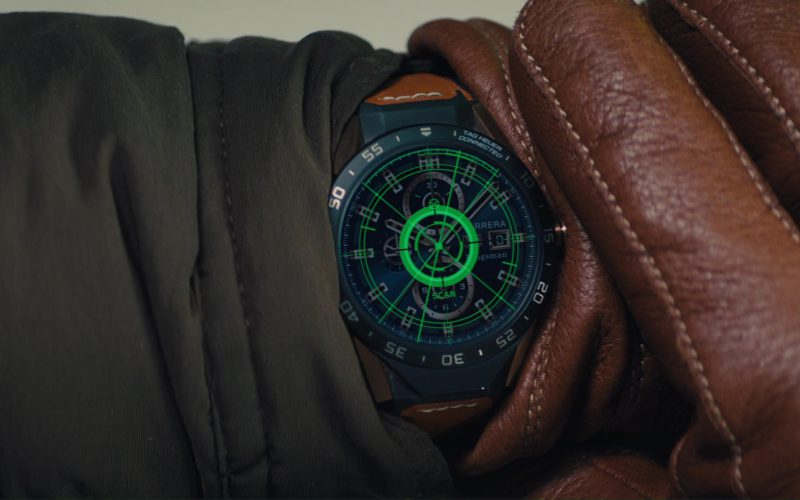 TAG Heuer Connected Modular 45mm Ceramic And Leather Smartwatch Used by Taron Egerton in Kingsman (4)