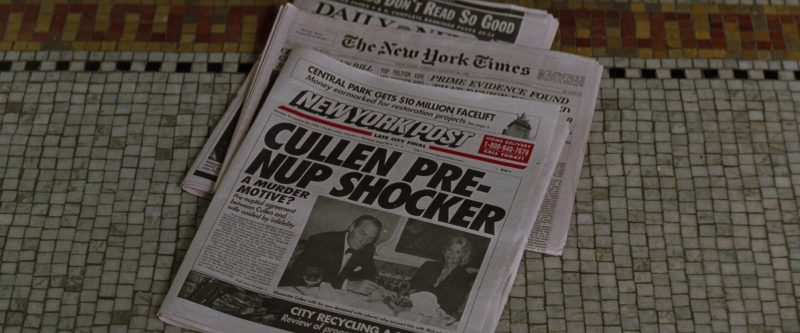 The New York Times and New York Post Newspapers in The Devil's Advocate (1997) - Movie Product Placement