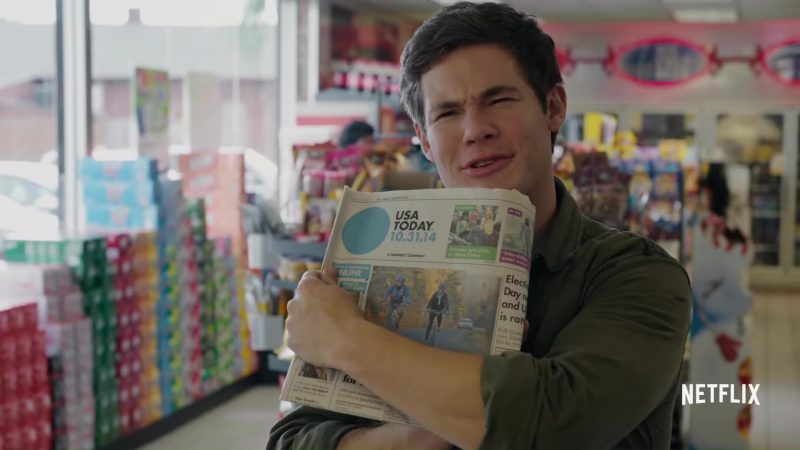 USA Today Newspaper Used by Adam DeVine in When We First Met (2018) Movie Product Placement