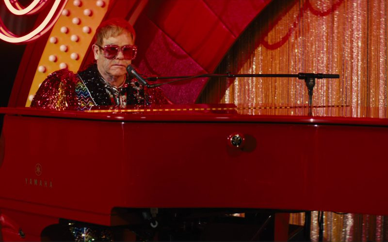 Yamaha Red Grand Piano Used by Elton John in Kingsman The Golden Circle (1)