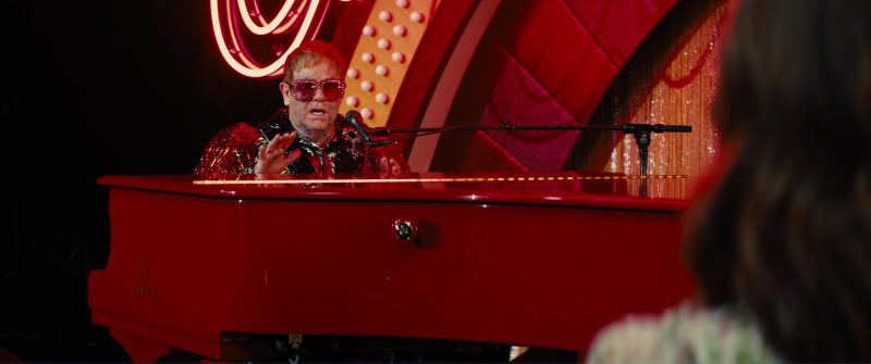 Yamaha Red Grand Piano Used by Elton John in Kingsman 2: The Golden Circle (2017) - Movie Product Placement