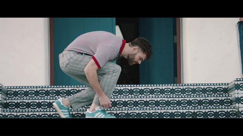 Adidas Men's Blue Shoes in You Owe Me by The Chainsmokers (2018) Official Music Video Product Placement