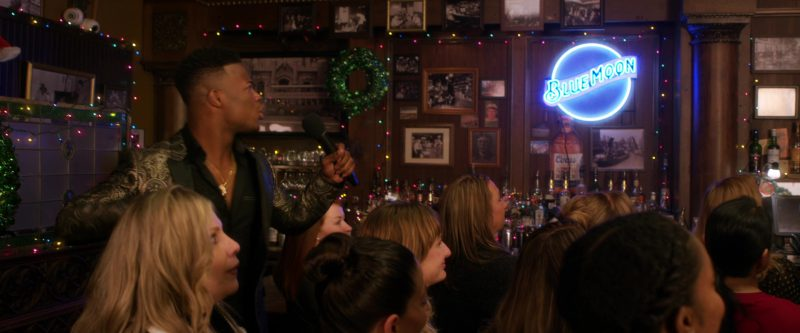 Blue Moon Brewing Company Neon Sign in A Bad Moms Christmas (2017) Movie Product Placement