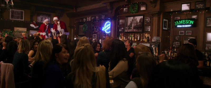 Blue Moon and Jameson Neon Signs in A Bad Moms Christmas (2017) Movie Product Placement
