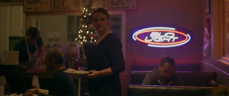 Bud Light Beer Neon Sign in Braven (2018) - Movie Product Placement