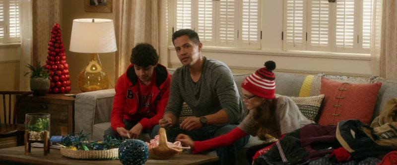 Chicago Bulls Red T-Shirt and Hoodie in A Bad Moms Christmas (2017) Movie Product Placement