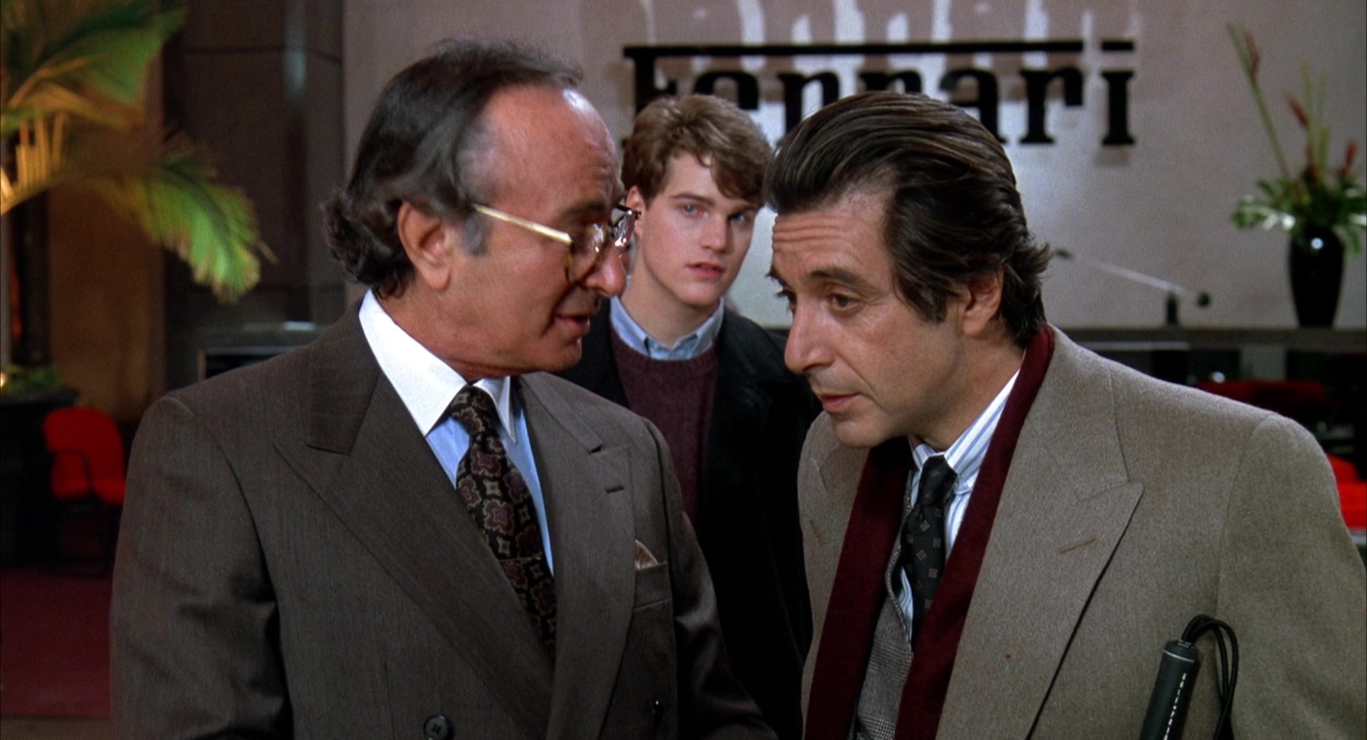 Ferrari Car Dealer Chris O Donnell And Al Pacino In Scent Of A Woman 1992 Movie