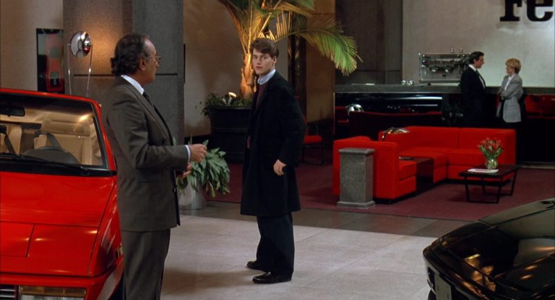 Ferrari Car Dealer (Chris O'Donnell and Al Pacino) in Scent of a Woman (1992) Movie Product Placement