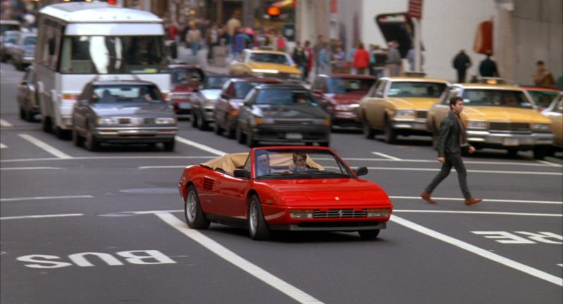 Ferrari Mondial T Sports Car Used by Chris O'Donnell and Al Pacino in Scent of a Woman (1992) - Movie Product Placement