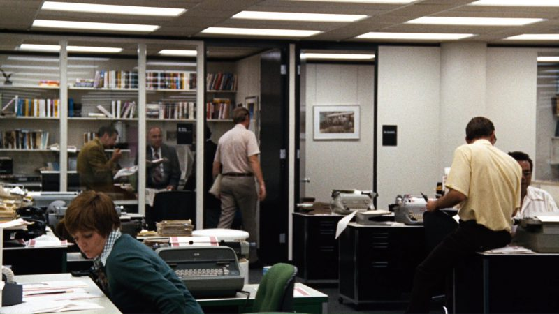 IBM Typewriters in All the President's Men (1976) Movie Product Placement