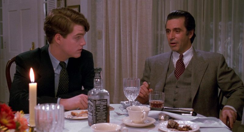 Jack Daniel's Whiskey (Chris O'Donnell and Al Pacino) in Scent of a Woman (1992) Movie Product Placement