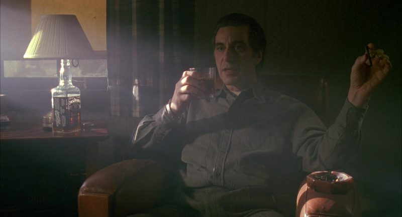 Jack Daniel's and Al Pacino in Scent of a Woman (1992) Movie Product Placement