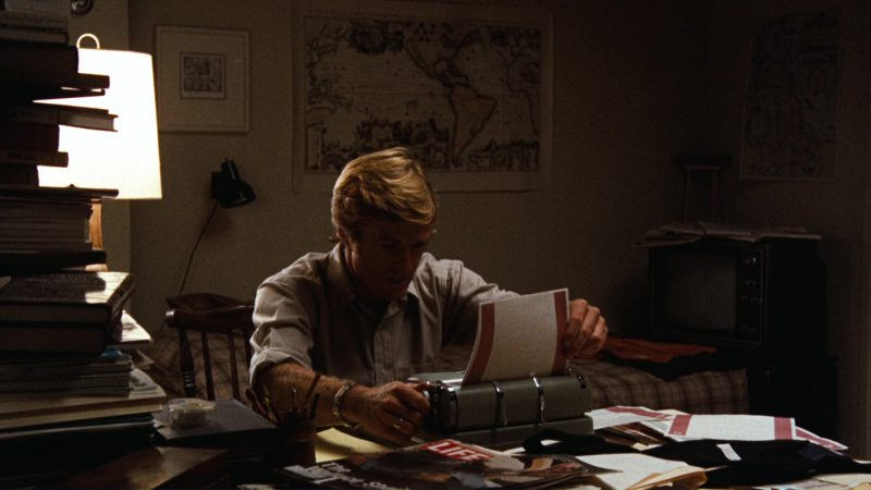 Life Magazine and Robert Redford in All the President's Men (1976) Movie Product Placement