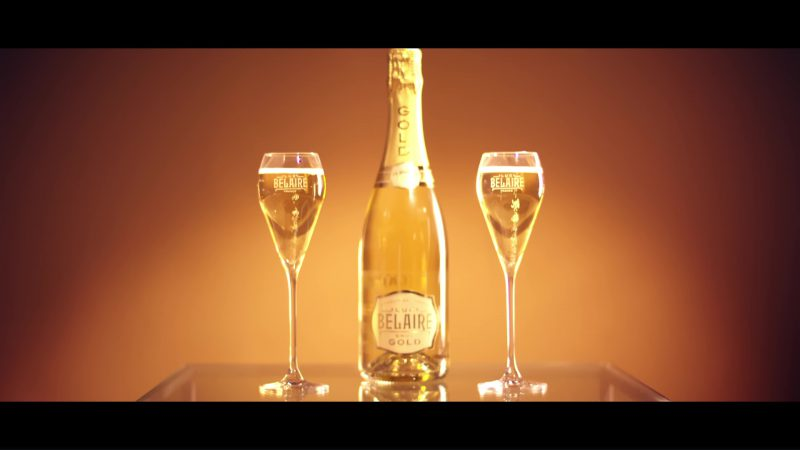 Luc Belaire Brut Gold Sparkling Wine in Melanin Magic (Pretty Brown) by Remy Ma ft. Chris Brown (2018) Official Music Video Product Placement