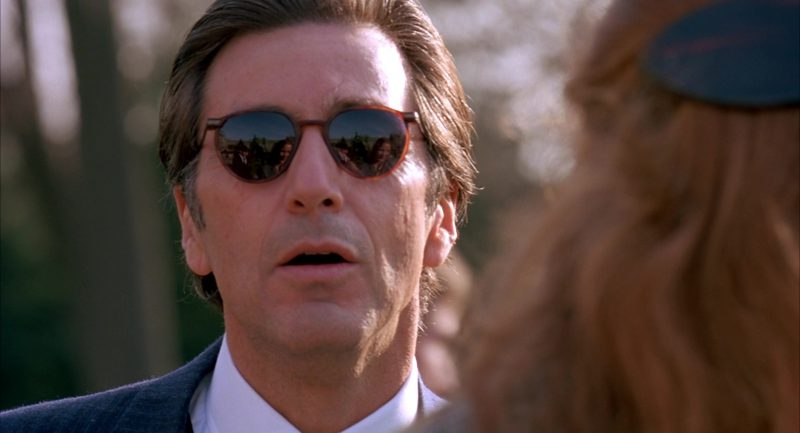 Matsuda Sunglasses Worn by Al Pacino in Scent of a Woman (1992) Movie Product Placement