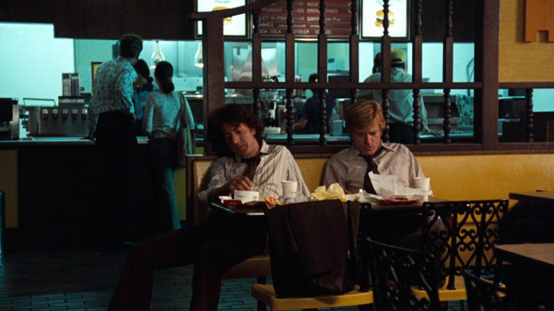 McDonald's Restaurant (Robert Redford and Dustin Hoffman) in All the President's Men (1976) Movie Product Placement