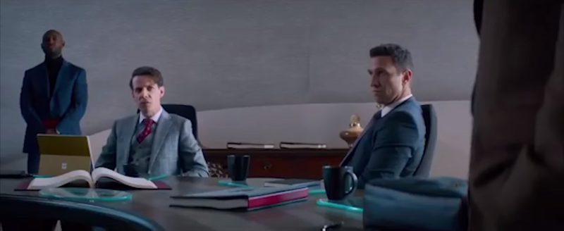 Microsoft Surface Tablet in Skyscraper (2018) Movie Product Placement
