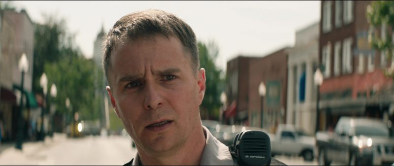 Motorola Radio Used by Sam Rockwell in Three Billboards Outside Ebbing, Missouri (2017) Movie Product Placement