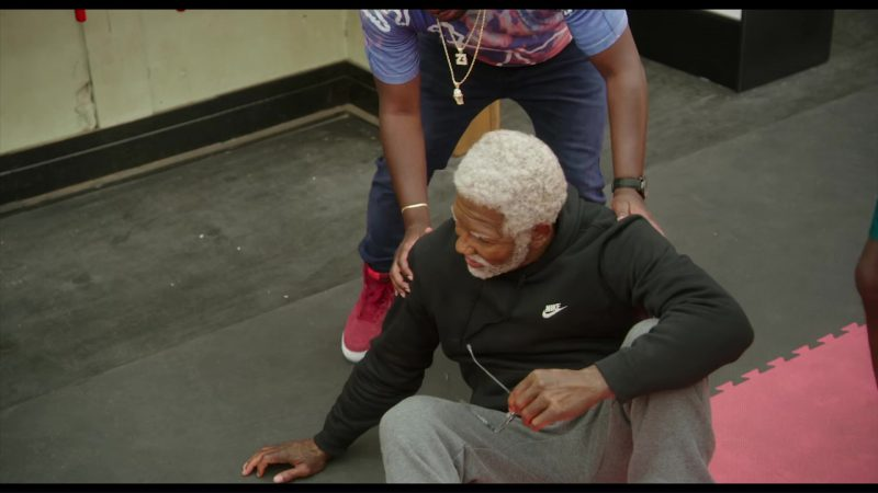 Nike Black Hoodie Worn by Shaquille O'Neal in Uncle Drew (2018) Movie Product Placement
