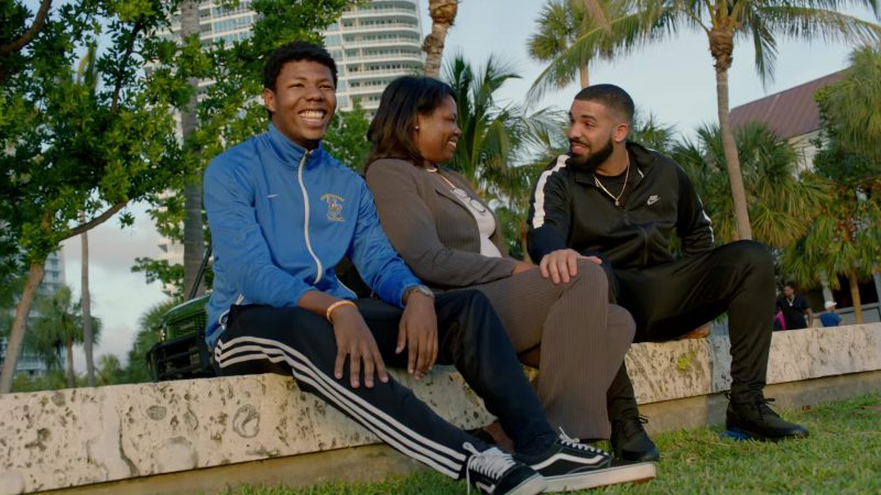 Nike Black Tracksuit and Air Max 270 Worn by Drake in God's Plan (2018) Official Music Video Product Placement