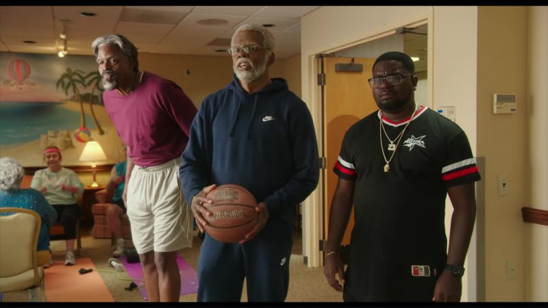 Nike Blue Hoodie and Sweatpants Worn by Shaquille O'Neal in Uncle Drew (2018) Movie Product Placement