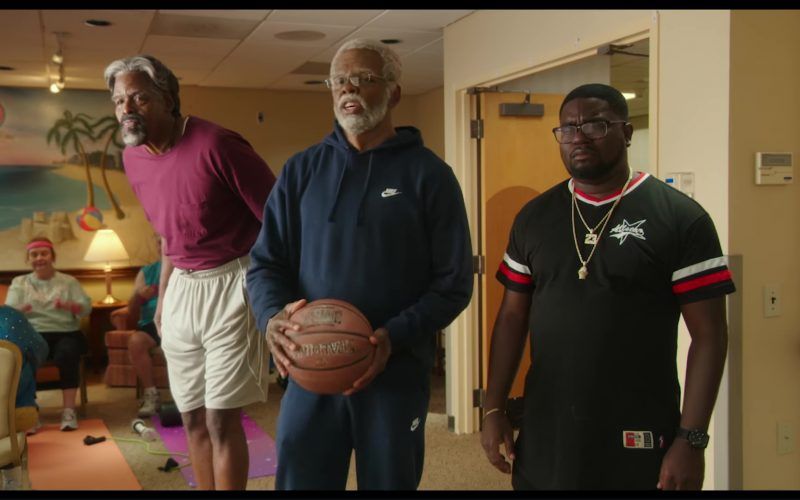 Nike Blue Hoodie and Pants Worn by Shaquille O'Neal in Uncle Drew
