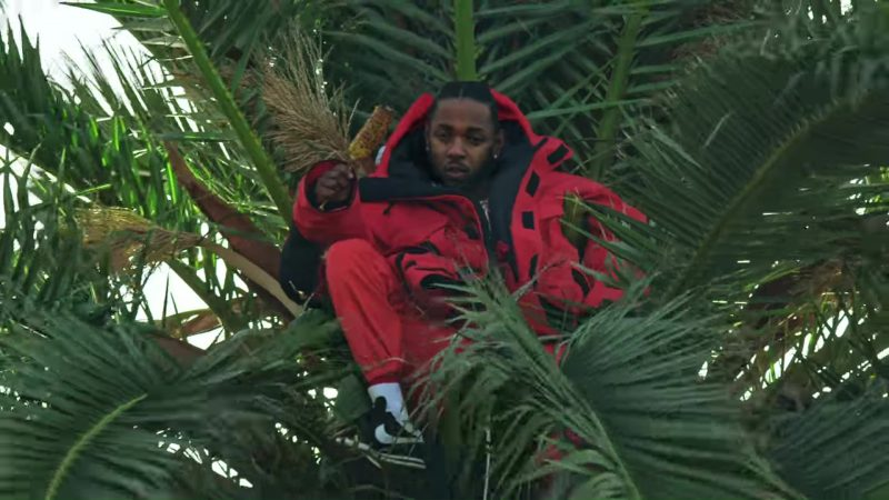 Nike Classic Cortez Black Sneakers Worn by Kendrick Lamar in King's Dead by Jay Rock, Kendrick Lamar, Future, James Blake (2018) Music Video Product Placement