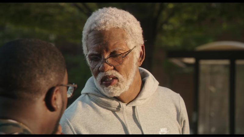 Nike Hoodie and Grey Sweatpants Worn by Shaquille O'Neal in Uncle Drew (2018) - Movie Product Placement