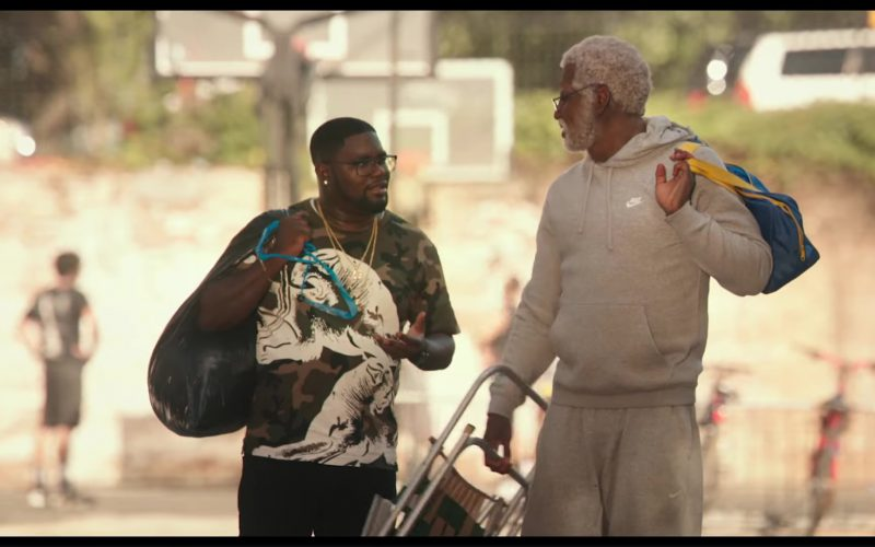 Nike Grey Hoodie and Sweatpants Worn by Shaquille O'Neal in Uncle Drew (9)