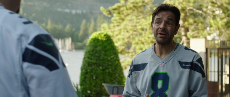 Nike Jersey T-Shirt (NFL and Seattle Seahawks) Worn by Eugenio Derbez in Overboard (2018) - Movie Product Placement
