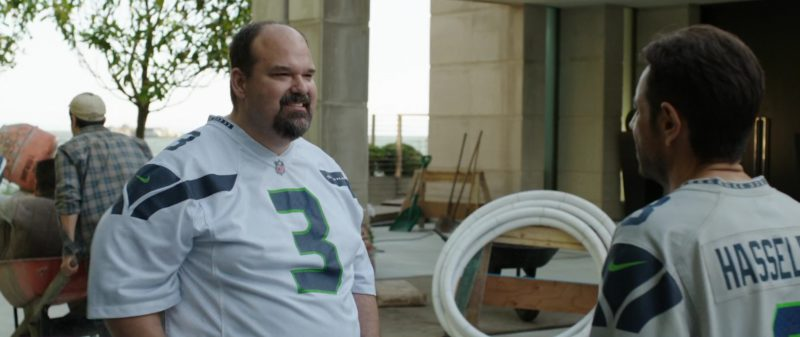 Nike Men's T-Shirt (NFL and Seattle Seahawks) Worn by Mel Rodriguez in Overboard (2018) Movie Product Placement