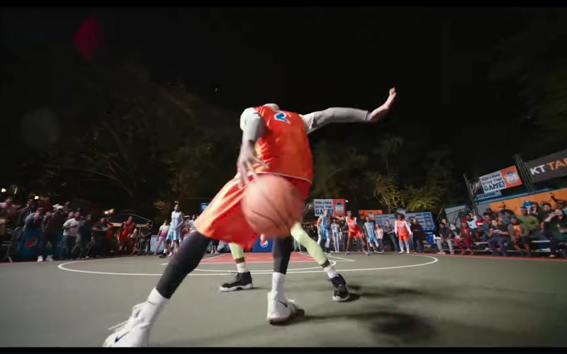 Nike White Sneakers and Pepsi Billboards in Uncle Drew